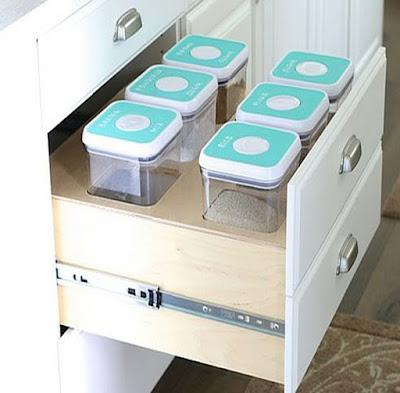 slide box kitchen set putih
