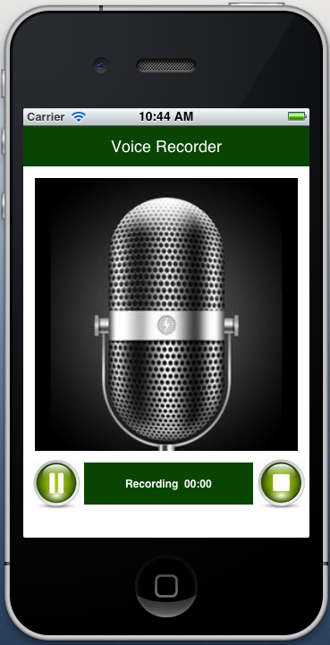 Download: iPhone voice recorder with Timer / Pause / Resume and Play