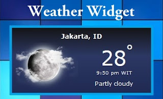 Cara Memasang Widget Cuaca/Weather di Blog