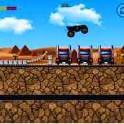 Monster trucks urban race