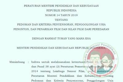 Permendikbud Nomor 14 Tahun 2019