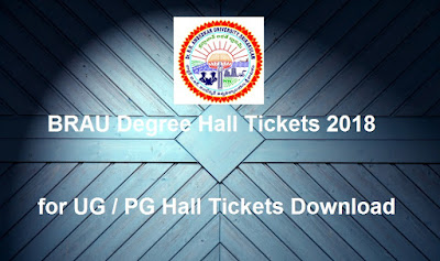 Manabadi BRAU Degree Hall Tickets 2018 Download, Schools9 BRAU UG Hall Tickets 2018