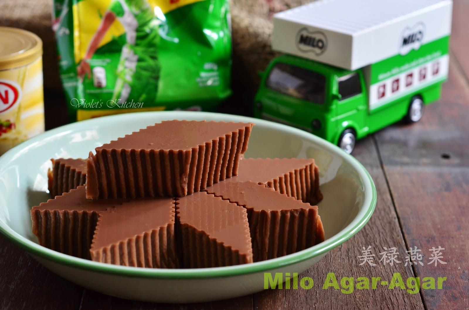 Violet's Kitchen ~♥紫羅蘭的愛心廚房♥~ : 美祿燕菜 Milo Agar-Agar