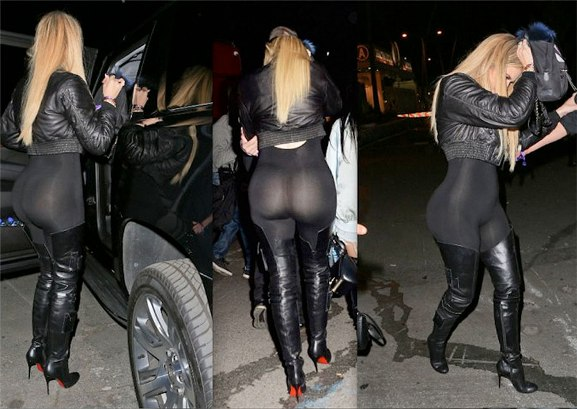SEE PICS: Khloe Bum In See-Through Outfit She Wore To Beyonce's Concert
