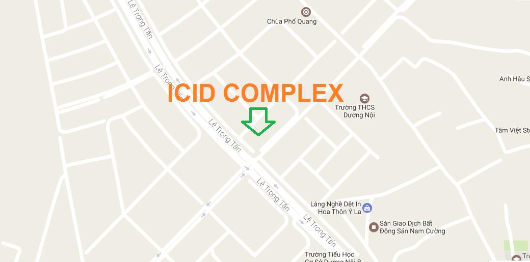 Vị trí chung cư ICID Complex Hà Đông