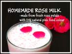 Homemade rose Petals Milk