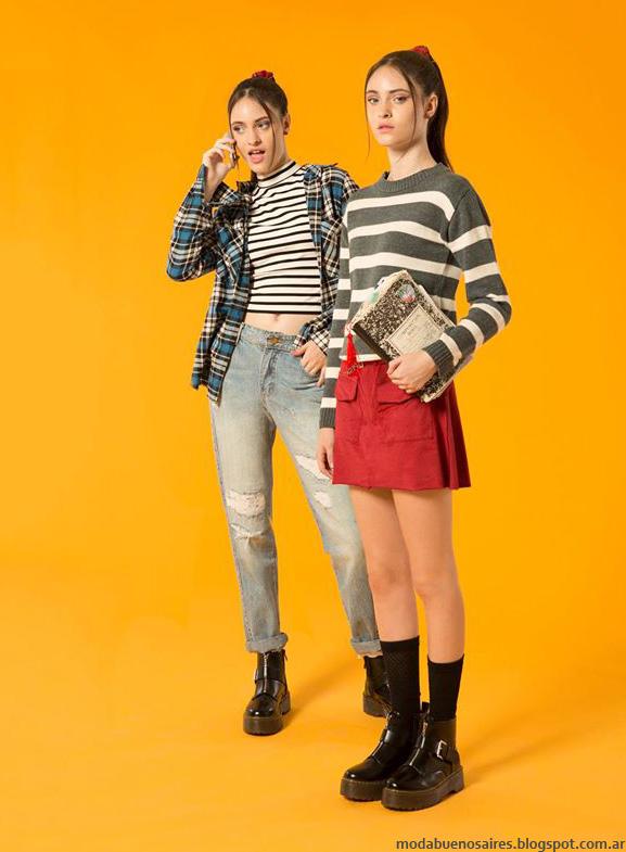 Minis, sweaters y minifaldas otoño invierno 2016 Muaa colección otoño invierno 2016.