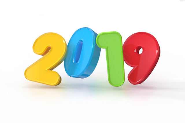 New Year 2019 3D Text