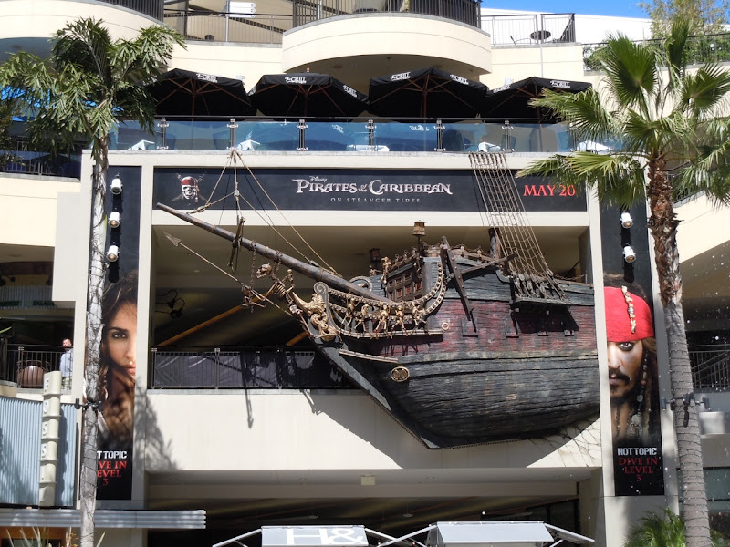 On Stranger Tides pirate ship installation