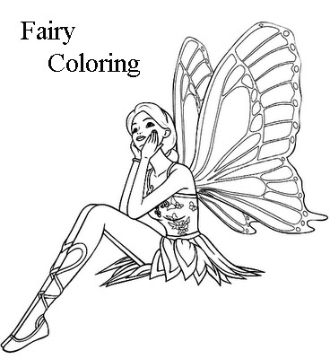 Disney Princess Fairy Coloring Pages To Kids