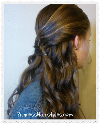 Diagonal knotted braid hair tutorial