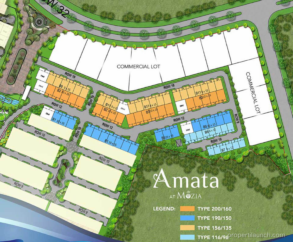 Site Plan Cluster Amata The Mozia BSD