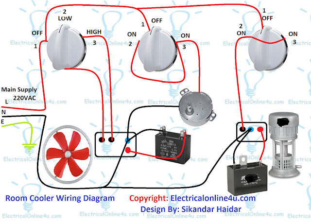 room cooler wiring diagram