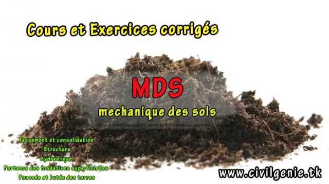 Mécanique des sols cours et exercices corrigés pdf