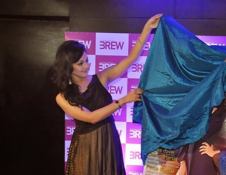 Pooja kumar latest photos at brew magazine launch