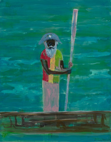 "Arte, pintura, retrato, ""Fisherman"" by Adam Lester, 2017."