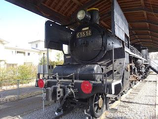 吉松駅の蒸気機関車