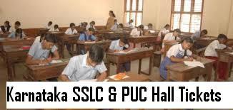 karnataka sslc hallticket 2016, karnataka puc hallticket 2016, ksseb