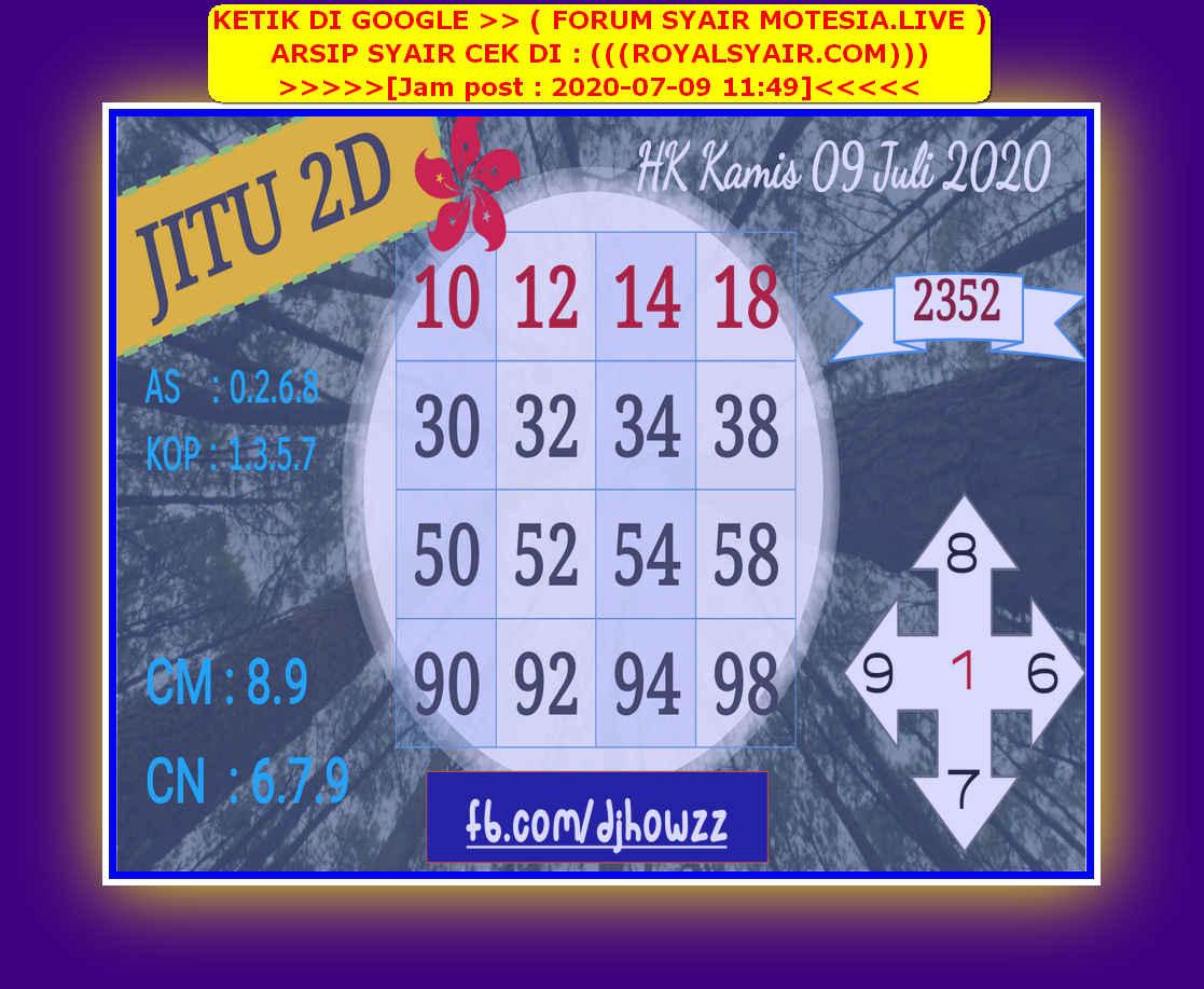 Kode syair Hongkong Kamis 9 Juli 2020 98