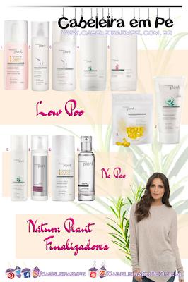 Natura Plant - Creme para Pentear, Óleo, Spray, Cápsulas, Elixir e Perfume - Veja no blog quais são Low Poo e No Poo