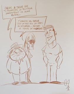 À la demande de certains, voici les dessins satiriques et caricatures réalisés pour les séminaires de la SNCF - ESI. ©Guillaume Néel