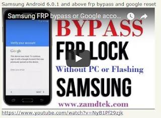 Samsung android 6.0.1 FRP bypass & google reset Galaxy J7