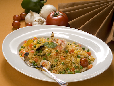 Rice with sea food and vegetables