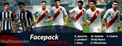 Facepack Peru Mas Extra Pes 2013 By Raul