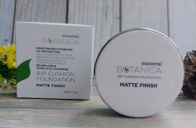 Review Mineral Botanica Air Cushion Foundation Matte Finish, mineral botanica, pretty-mood.com