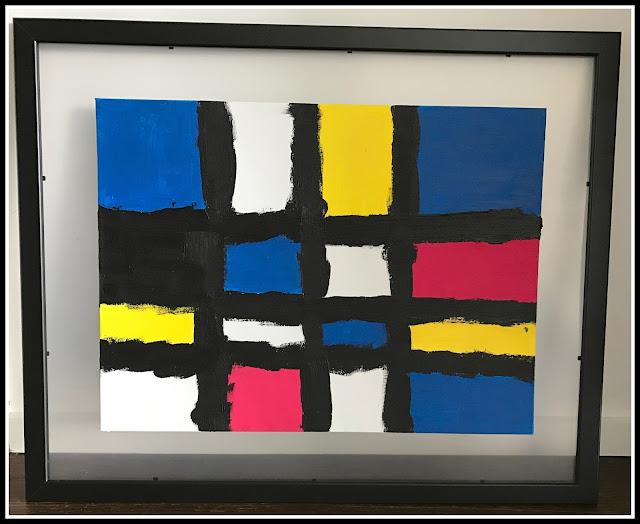 peinture à la manière de Mondrian