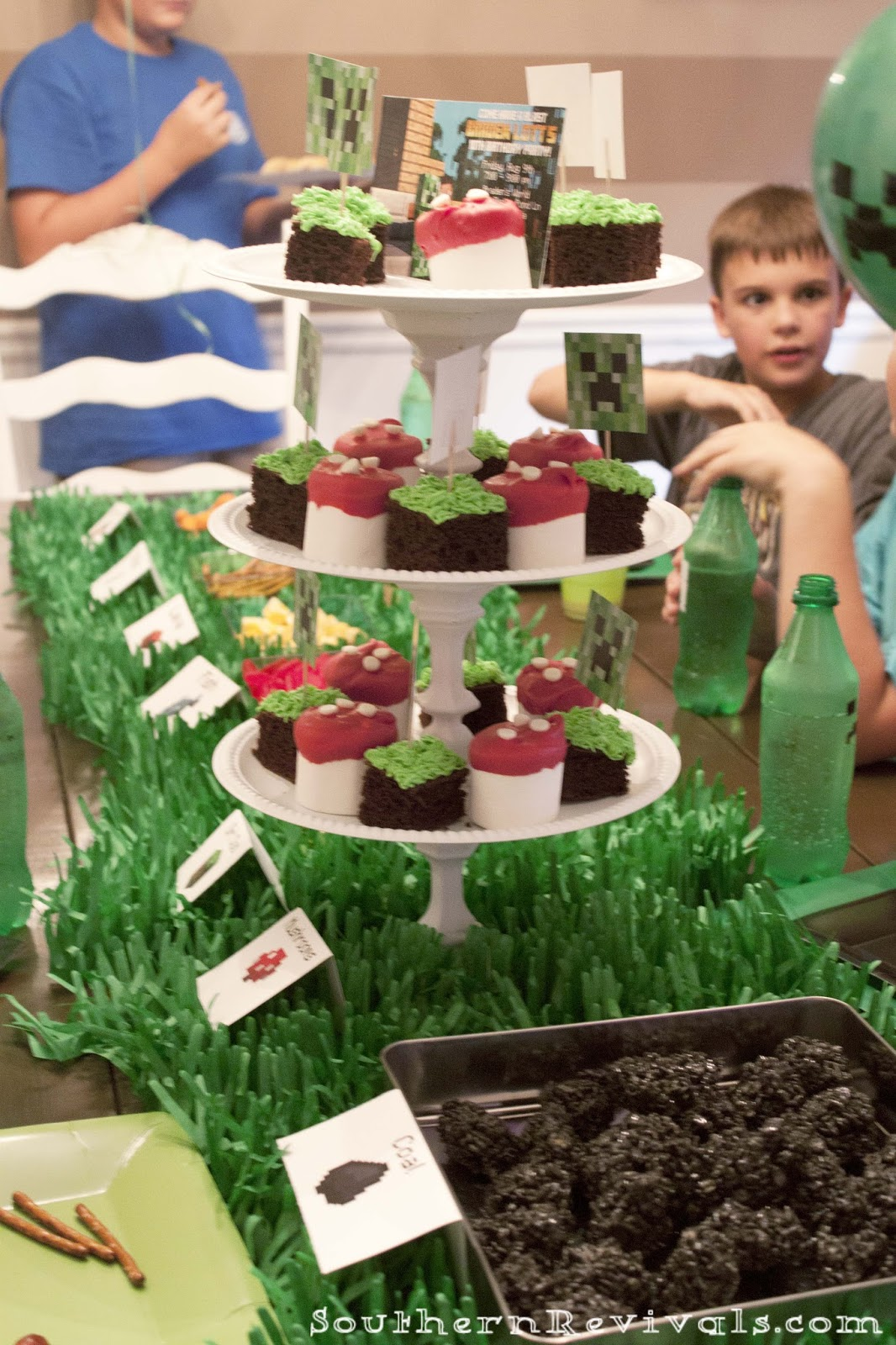 Diy Minecraft Birthday Party Craft Ideas Party Favors