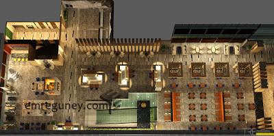 mimari 3d görselleştirme lobi plan render