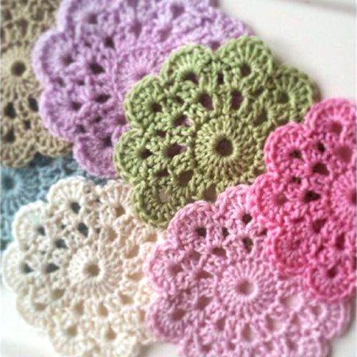 Beautiful Crochet Coasters - Free Diagram