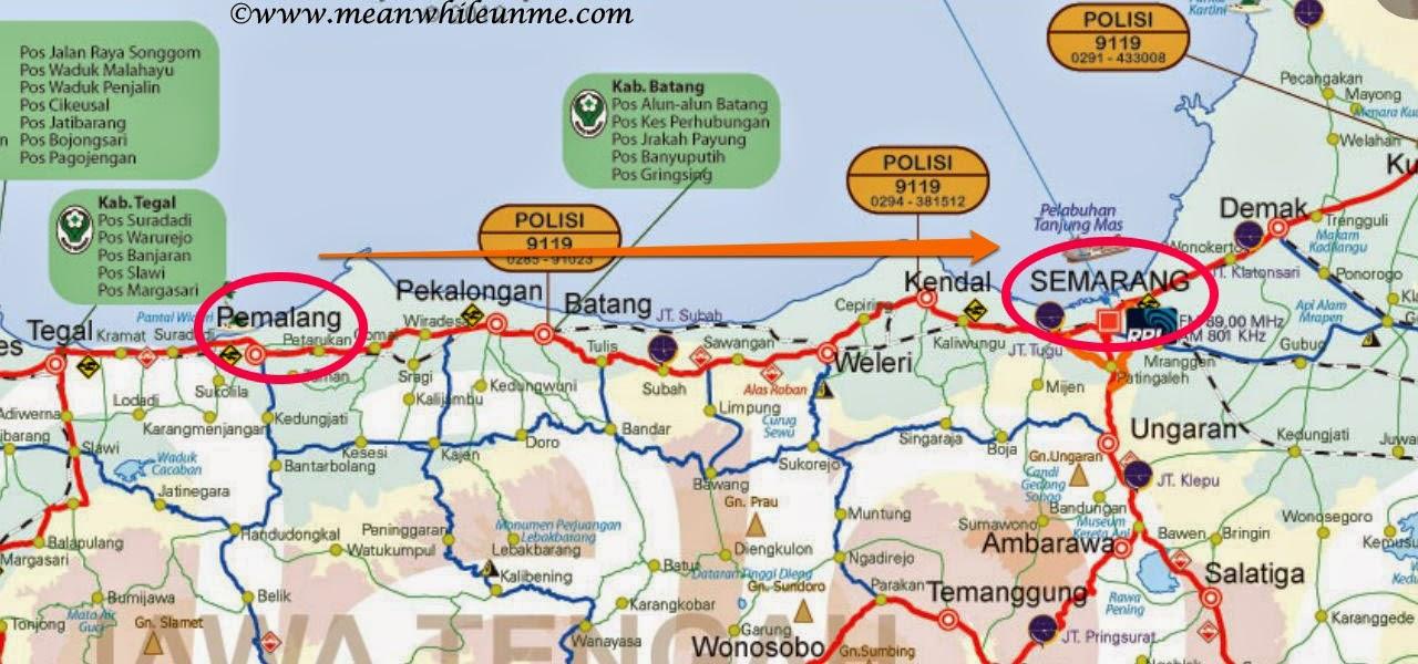 Rute Pemalang menuju Semarang