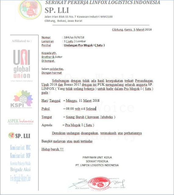 File Undangan konsolidasi pra mogok upah dan Bonus PT Linfox