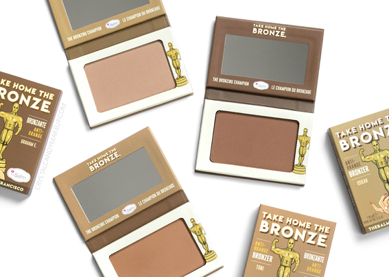 TheBalm Take Home The Bronze Anti-Orange Bronzers Review Photos Swatches Comparisons Toni Oskar Graham E.