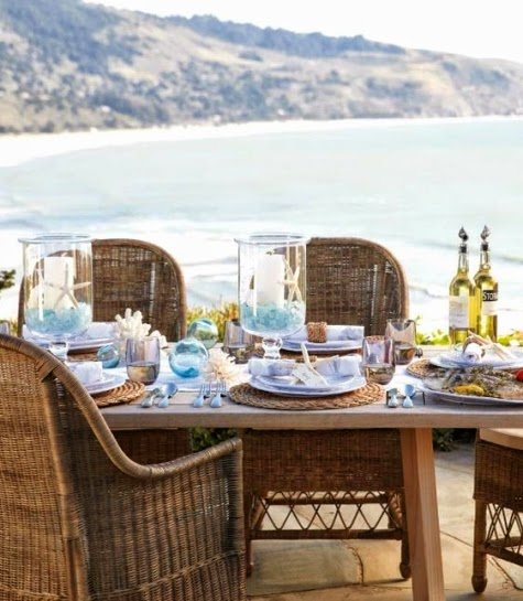 coastal outdoor entertaining with Williams Sonoma