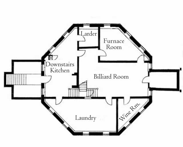 1930's Mansion Floor Plan