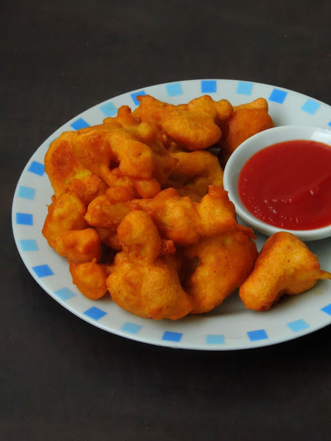 Cauliflower Wheat Flour Bajjis,Gobi  Atta Bajji