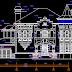 مشروع منزل القلعة اوتوكاد dwg