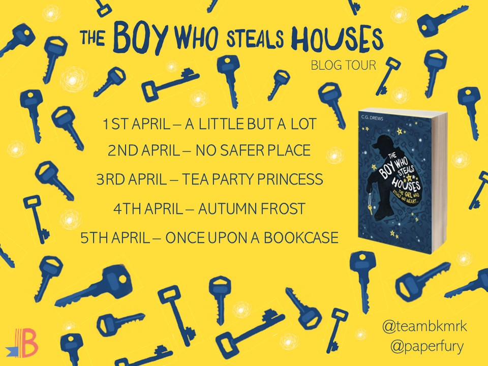 The Boy Who Steals Houses by C. G. Drews Blog Tour Banner