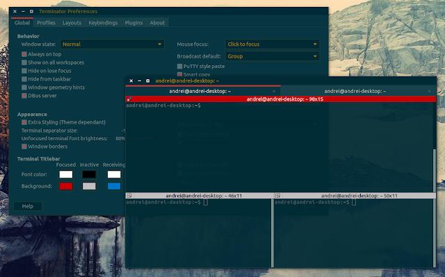 Terminator terminal emulator