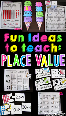 Place value activities and ideas that make learning tens and ones, expanded form, and other place value ideas so much fun!