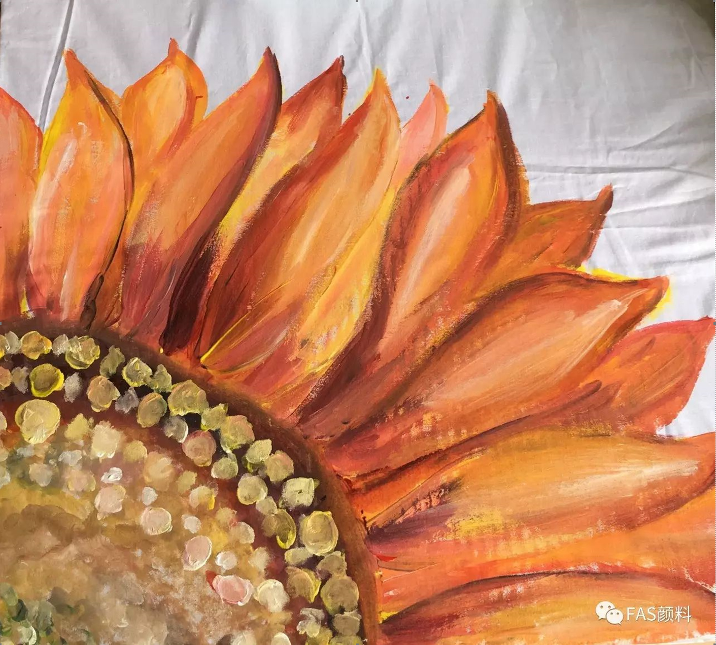 FAS Fastex fabric Ink Pillowcase Sunflower Painting