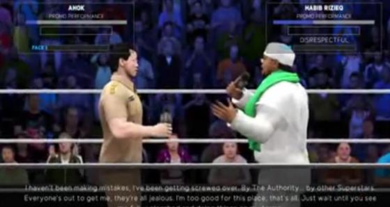 Animasi pertarungan Ahok dan Habib Rizieq di Ring SmackDown