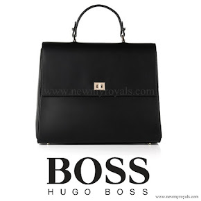 Queen Letizia carried HUGO BOSS Bespoke Leather Handbag