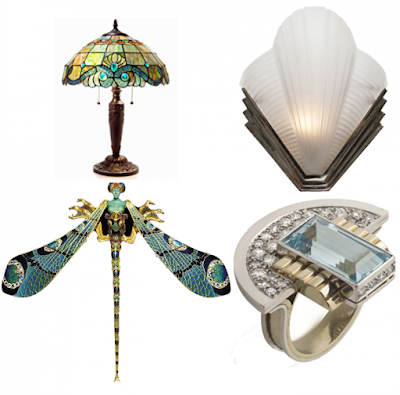 The difference between Art Nouveau and Art Deco