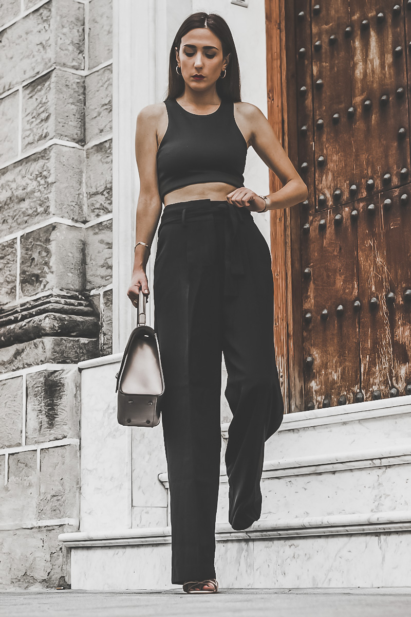 total black look - look todo negro