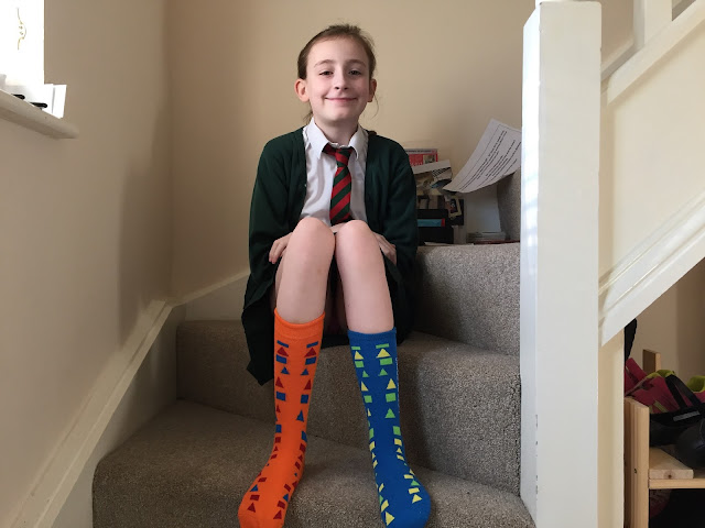 Steph's Two Girls odd socks World Down Syndrome Day