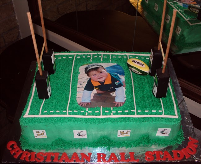 Delana S Cakes Rugby Field Cake